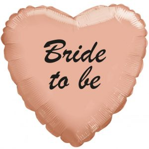 "בלון מיילר 18"" לב bride to be רוזגולד מקט 3085"