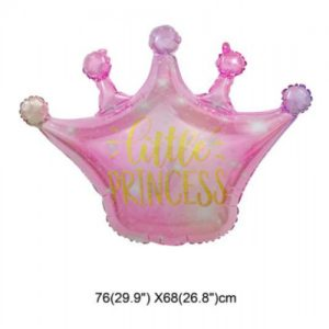 "בלון כתר Little Princess מיילר 24"" אינצ' בצבע ורוד"